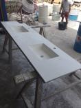 Fabricación de un lavabo